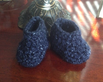 Handmade baby boy boots and beanie