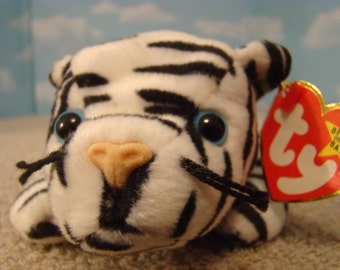 Blizzard the Tiger Ty Beanie Baby DOB December 12, 1996 Style 4163