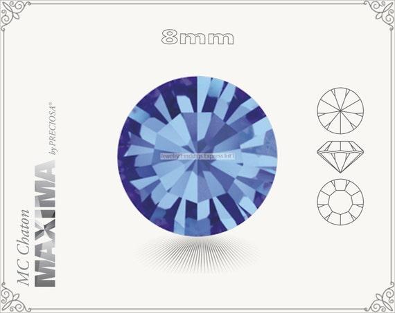 6 pc.+ SS39 (8mm) Preciosa MC Chaton MAXIMA - Sapphire Color