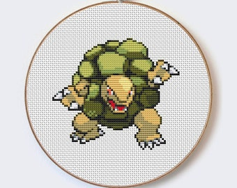 Golem Pokemon modern cross stitch Cute Little Cartoon pattern- perfect for beginners - PDF format - instant download Buy 2 Get 1 Free