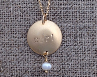 purl necklace - gold-fill