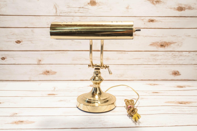 Vintage Underwriters Laboratories Brass Portable Desk Lamp