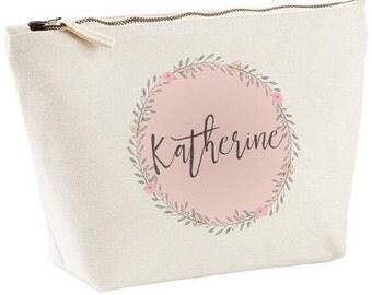 Personalised Pink Cosmetic Bag | Make Up Tote
