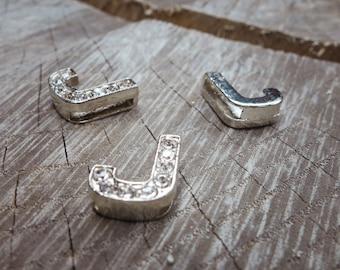 Letter J Slot Charms ~1 pieces #100624