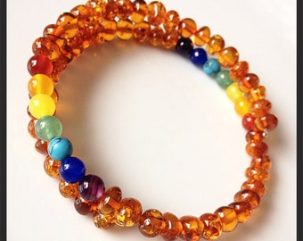 Baltic Amber Rainbow Bangle