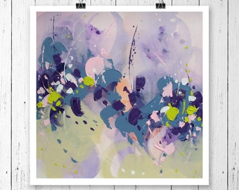 Abstract Art Original Art Abstract Wall art Abstract Painting Art PRINT Violet Painting Modern artwork Wall hanging Home decor Giclee PRINT