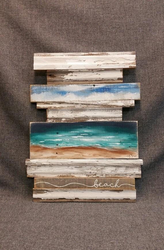 Beach Pallet Wall Art Sculpture abstract by ...