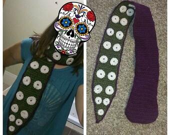 Crochet octopus tentacle scarf PATTERN