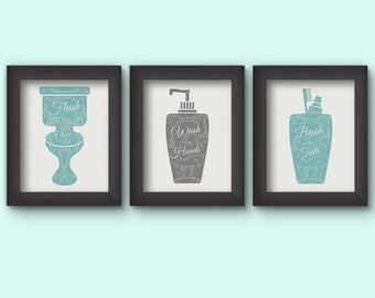 Bathroom art set Etsy