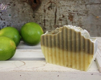 Handmade Lime Soap Bar, all natural, vegan, palm free, handcrafted