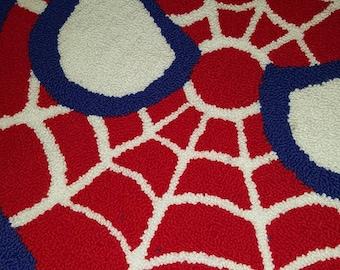 "Spider Man Rug- 30"" Handmade"