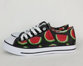 Summer shoes, watermelon shoes, watermelon theme, custom plimsoll, women pumps, watermelon outfit, birthday gift, boho shoes, wife gift