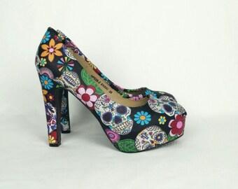 Skull heels | Etsy