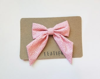 Pink Floral Big Bow - The Eleanor