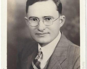 Vintage Nerd, 1930s (est), Vintage Photograph