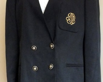 Gilmor career blazer black monogramed size 20 W
