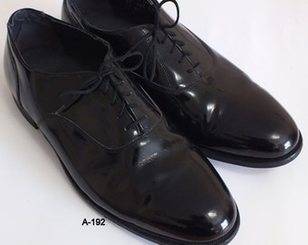 British walkers black patent leather oxford mens size 13 EEE, Made in USA