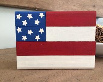 US Flag Block Set