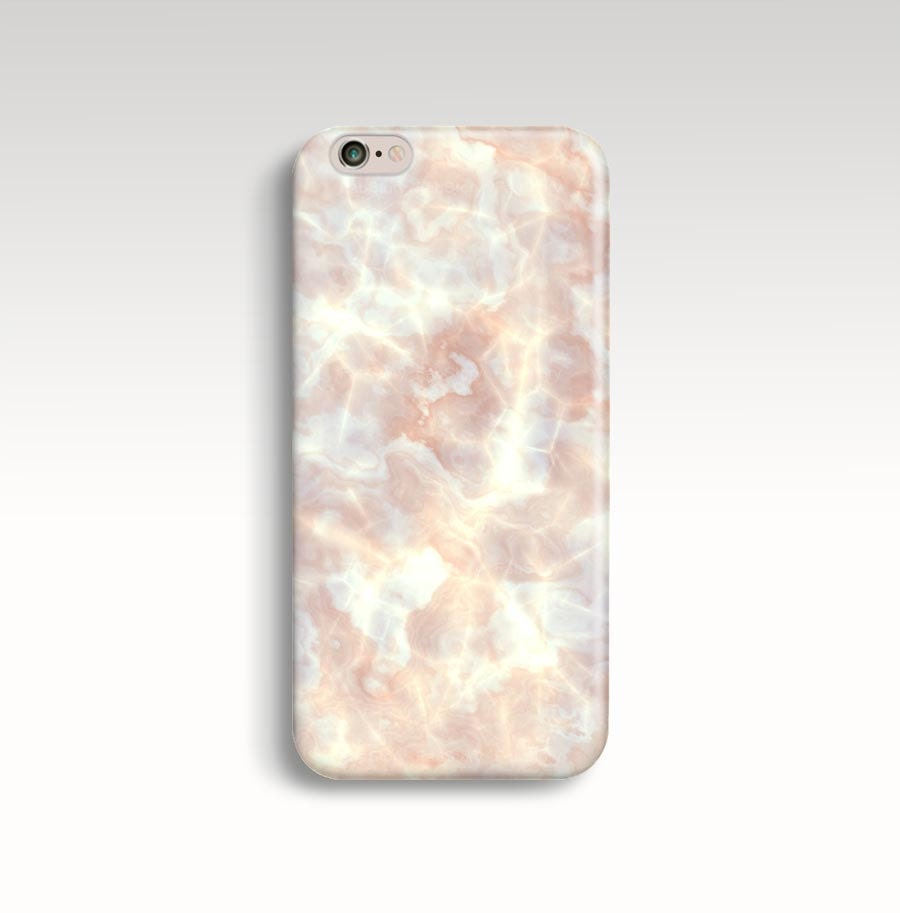White Marble Rose Gold Iphone Case