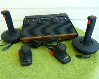 Atari CX-2600 Original Game Console, with Multiple Games, & Controllers