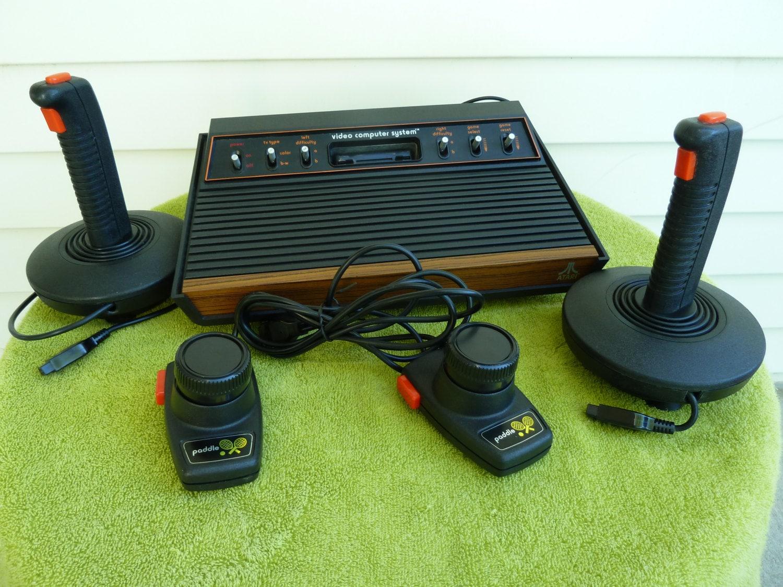 Atari cx 2600 original game console with multiple games - Original atari game console ...