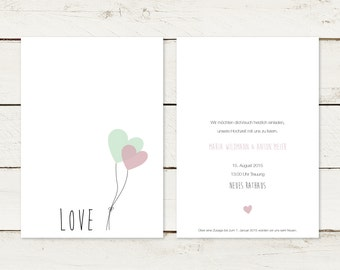 50 x wedding invitation | LOVE