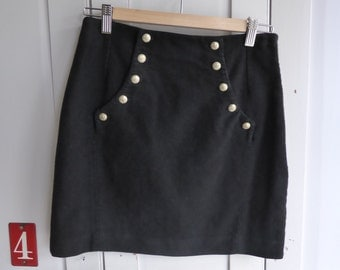 Vintage Jigsaw black mini skirt size UK 8