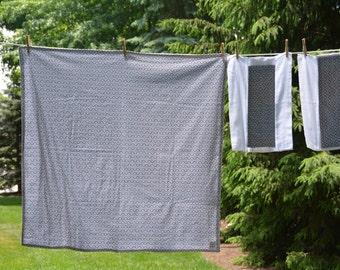 Baby blanket, burp cloth set
