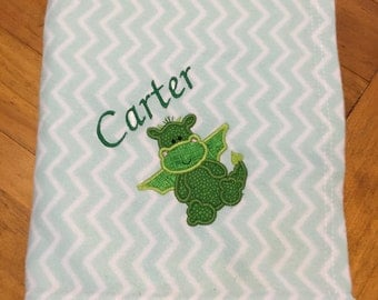 Personalised baby blanket - Green