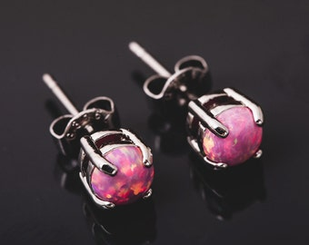 Pink Opal Earrings *C37*