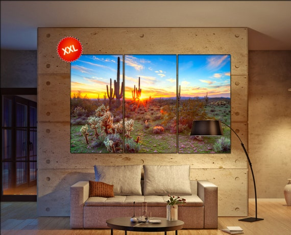 Sonoran Desert  canvas Sonoran Desert wall decoration Sonoran Desert canvas art Sonoran Desert large canvas  wall decor
