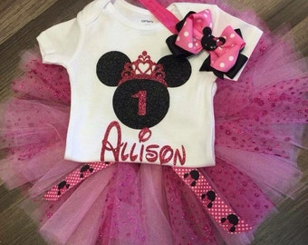 Minnie Mouse first birthday outfit, Minnie Mouse second birthday outfit, minnie birthday party, 2 nd, 3 rd birthday