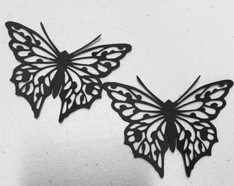 Set of 12 - Butterfly Silhouettes//Butterfly cutouts//Garden party decor//Fairies and butterfly party