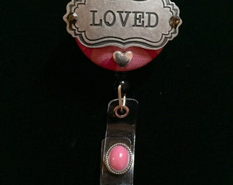 To Be Loved -Nurse Retractable ID Badge Reel/ RN Badge Holder/Doctor Badge Reel/Nurse Badge Holder/Nursing Student Gifts