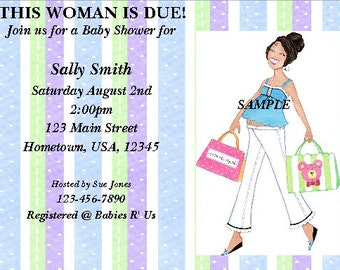 Personalized Baby Shower Invitation Mod Shopping Mom