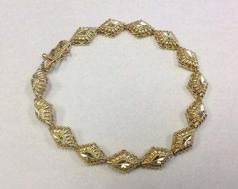 Vintage 14 ct Rolled gold, bright engraved bracelet.