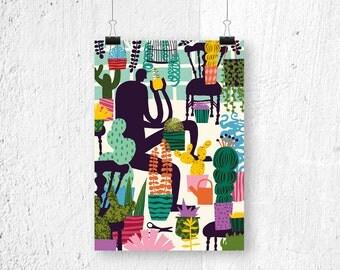 Poster - Cactus - botanical - digital print
