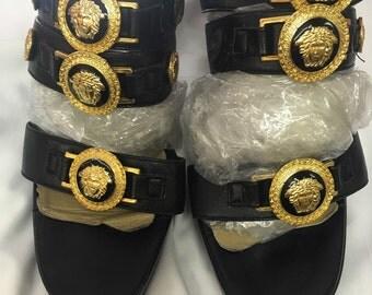 Gianni Versace 1990's Medusa shoes 36  1/2