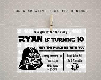 Darth Vader invitation