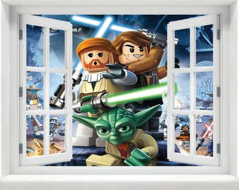 Window with a View Lego Star Wars Wall Mural