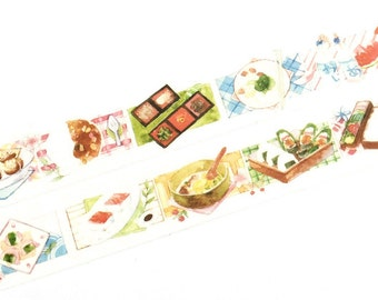 Japanese cuisines washi tape (T00149)