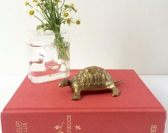 Vintage Brass Turtle