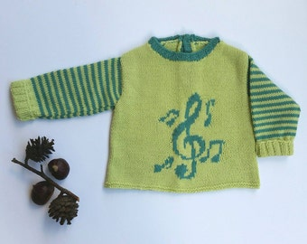 Knitted Baby Blouse for Boy