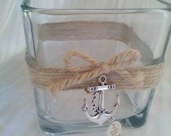 Nautical Theme Anchor Vase / Nautical Theme Candle Holder
