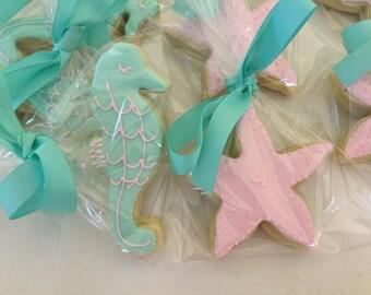 Pastel Seahorse Cookies
