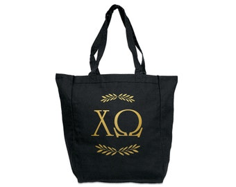 ChiO Chi Omega Letters Tote Sorority Tote Greek Licensed