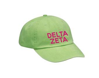 DZ Delta Zeta Simple Hat Choose Your Colors Sorority Hat