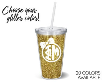 Phi Mu Glitter Tumbler Choose Your Colors