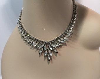 Vintage Weiss marquis rhinestone necklace