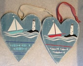 Wooden heart, lighthouse,...